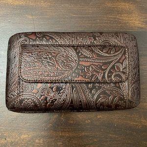 Burgundy Brown Wallet Clutch